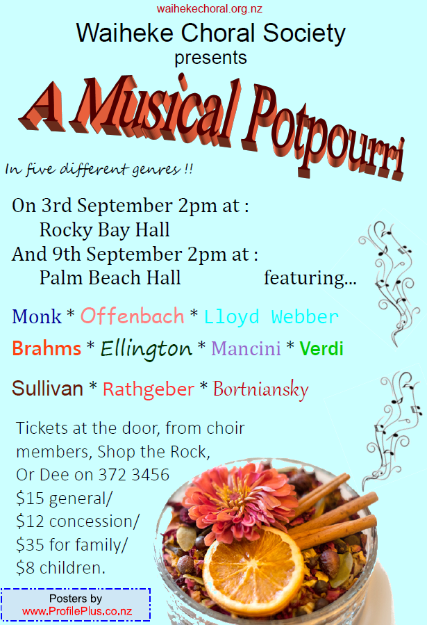 Pot Pourri concert
